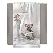Live, Laugh And Love Bear Shower Curtain