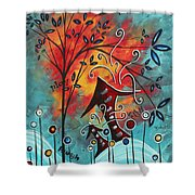 Live Life II By Madart Shower Curtain