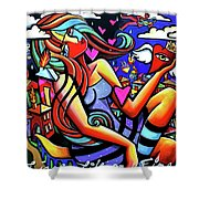 Live Life On Fire Shower Curtain