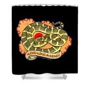 Live Like A Florida Kingsnake Shower Curtain