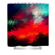 Splashing Colors Of What I Seen Shower Curtain