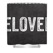Live Love Bake Shower Curtain