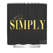 Live Simply Gold Gray Shower Curtain