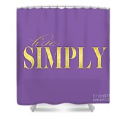 Live Simply Gold Lavender Shower Curtain