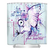 Live Without The Sunlight Owl Shower Curtain
