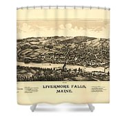 Livermore Falls Maine Shower Curtain