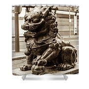 Liverpool Chinatown - Chinese Lion A Shower Curtain