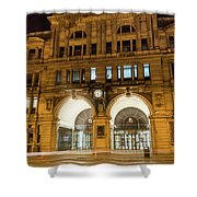 Liverpool Exchange Railway Station By Night Shower Curtain