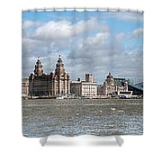 Liverpool Panoramic View Shower Curtain