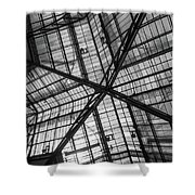 Liverpool Street Station Glass Ceiling Abstract Shower Curtain