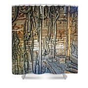 Livery Stable Work Bench - Virginia City Montana Shower Curtain