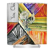 Living Dying Dead Shower Curtain