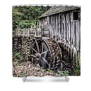 Cable Mill Gristmill - Great Smoky Mountains National Park Shower Curtain