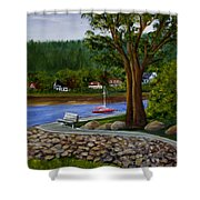 Living In Annapolis Royal Shower Curtain