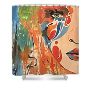 Living In Color Shower Curtain