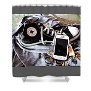 Living In Converse Resting Time  Shower Curtain