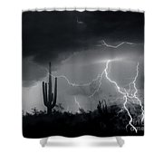 Living In Fear-signed Shower Curtain