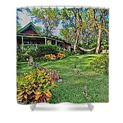 Living In Paradise Shower Curtain