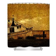 Living In The Past Shower Curtain by Susanne Van Hulst
