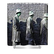 Living In The Shadows Shower Curtain