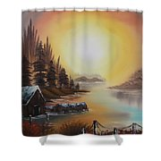 Living On A Lake Shower Curtain