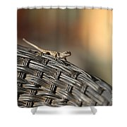 living on the EDGE  005 Shower Curtain