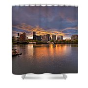 Living On The Willamette River Shower Curtain