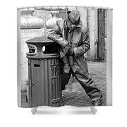 Living Statue Rome Shower Curtain