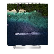 Living The Dream In El Nido Philippines Shower Curtain