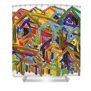 Living Together Shower Curtain