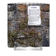Living Wall At Donegal Castle Ireland Shower Curtain
