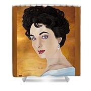 Liz Taylor Shower Curtain