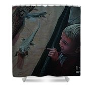 Lizards At The Zoo Shower Curtain