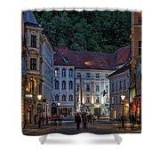 Ljubljana Night Scene - Slovenia Shower Curtain