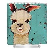 Llama Sid Shower Curtain