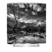 Llanberis, Wales Shower Curtain