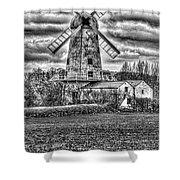 Llancayo Mill Usk 4 Mono Shower Curtain