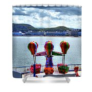 Llandudno Fun For The Kids On The Pier Shower Curtain