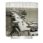 Llandudno Pier North Wales Uk Shower Curtain