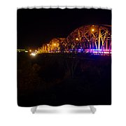 Llano Bridge At Night Shower Curtain