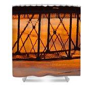 Llano Bridge Reflection Shower Curtain