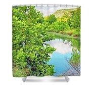Llano River Scenic Shower Curtain