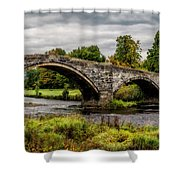 Llanrwst Bridge Panorama Shower Curtain