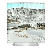 Llyn Cwm Silyn Shower Curtain