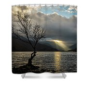 Llyn Padarn Sunrays Shower Curtain