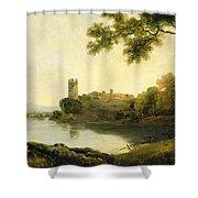 Llyn Peris And Dolbadarn Castle, North Wales Shower Curtain
