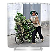 Loaded Bicycle Shower Curtain