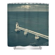 Loading Dock / Pier In Aguadilla Shower Curtain
