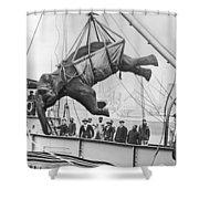 Loading Elephant, 1930s Shower Curtain