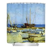 Loading Marble Shower Curtain